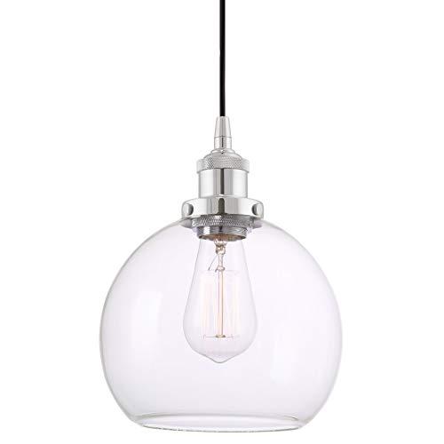 Clear Glass Globe Pendant Light in US - 2