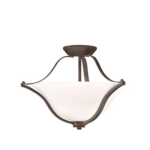 Kichler 3681OZ Langford Pendant/Semi-Flush 2-Light, Olde Bronze