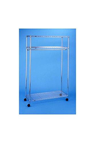 Wire Shelf Garment Rack in Chrome Finish - 3-Shelf ()