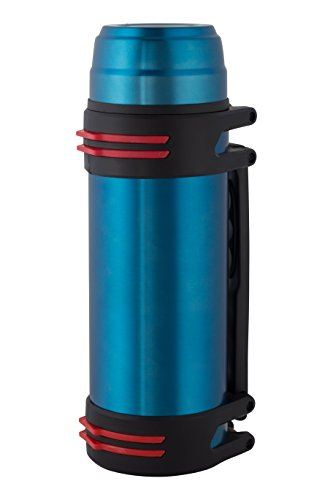 Extra Bottle Mug (Double-insulated Stainless Steel Water Vacuum Bottle Double, Extra Wide Opening, Beverage Bottle, Including Plastic Drinking Mug (Blue, 84 Ounces ))