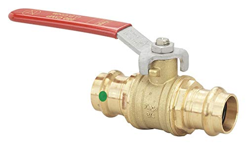 - Bronze, Brass Press x Press Ball Valve, Lever, 3/4