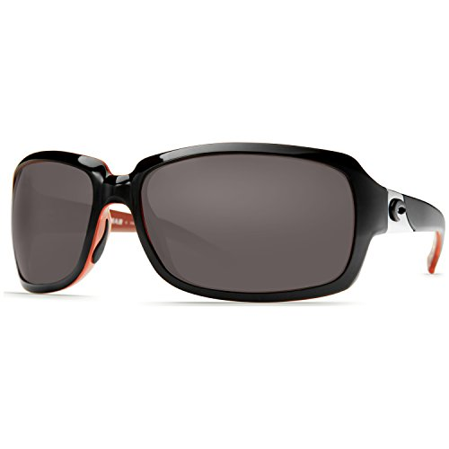 Costa Del Mar Isabela Black Coral 580G Dk Gray With Free Costa C-Line Black - Sunglasses Costa Isabela 580