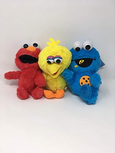 Sesame Street 2018 Best Trio Set ELMO, Cookie Monster, Big Bird Stuffed Animal Plush Toys Organized Things