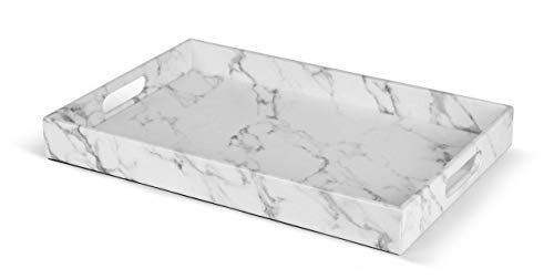 Cheap Decorative Trays beautiful modern elegant 18 x12 rectangle marble faux leather decorative