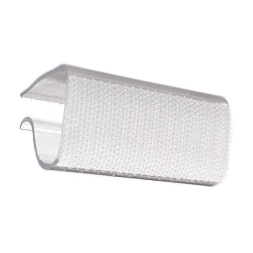 TableLinensforLess Clear Hook Fastener Table Skirting Clips (EC) for 1/2in to 1in Table Edge - 100 Pack ()