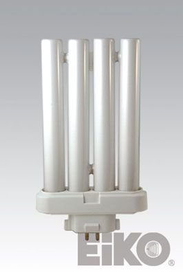 Gx10q 4 Base (Eiko 49314 - FML27/41 Double Tube 4 Pin Base Compact Fluorescent Light Bulb)