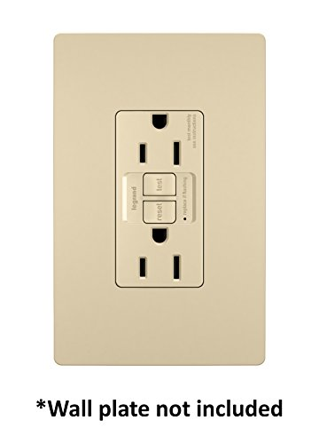 Legrand-Pass & Seymour 1597TRICC4 Self-Test GFCI Receptacle Outlet with Wall Plate, 15Amp 125V, Ivory by Pass & Seymour (Image #2)