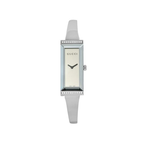 GUCCI Women's YA127505 G-Frame Quartz Silver Dial Watch