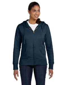 - econscious womens 9 oz. Organic/Recycled Full-Zip Hood(EC4501)-PACIFIC-M