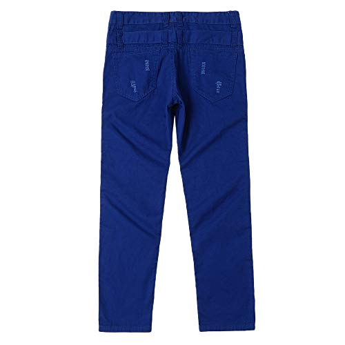 Inverlee-Mens Casual Solid Loose Patchwork Ripped Hole Trousers Cargo Pants by Inverlee-Mens (Image #4)