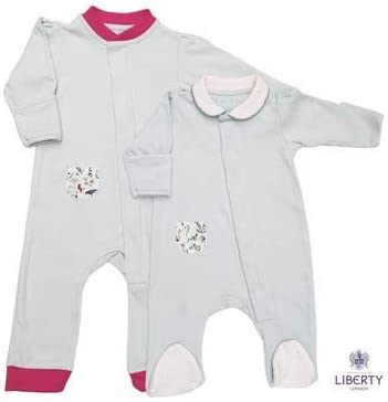 Magnet Mouse no fiddly Poppers or Buttons Original Grey Magnet Mouse Liberty Pocket Cotton Onesie with Magnetic Fastenings