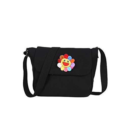 KLGDA Crossbody Canvas Bags For Women,Fashion Wild Contrast Color Diagonal Square Bag Shoulder Bags