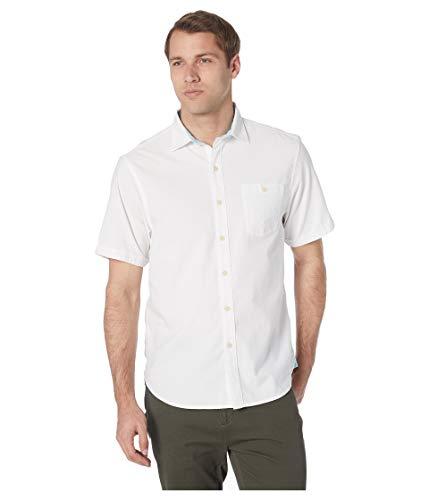 Tommy Bahama Corvair Stretch Camp Shirt (Color: White, Size L) (Tommy Bahama Lyocell Shirts)
