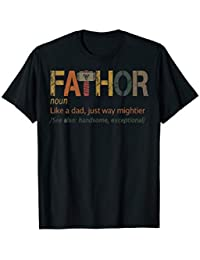 e85df151 Fa-Thor Like Dad Just Way Mightier Hero T-Shirt Father's Day