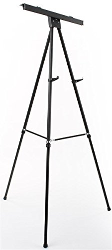 Displays2go Aluminum Flip-Chart Presentation Easel, 37.5-69 Inch Height-Adjustable Tripod with Telescoping Legs - Black (EASEL3769B) (Flip Chart Ease compare prices)