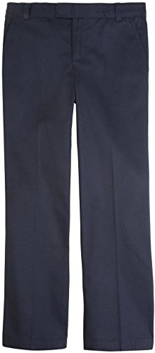 French Toast School Uniform Girls Adjustable Waist Flat Front Pants, Navy, ()
