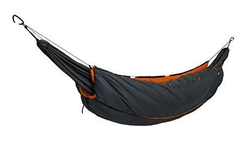 ENO - Eagles Nest Outfitters Vulcan UnderQuilt, Ultralight Camping Quilt, Orange/Charcoal by ENO