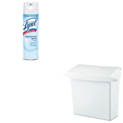 KITRAC74828CTRCP614000 - Value Kit - Rubbermaid Sanitary Napkin Receptacle with Rigid Liner (RCP614000) and Professional LYSOL Brand Disinfectant Spray (RAC74828CT)