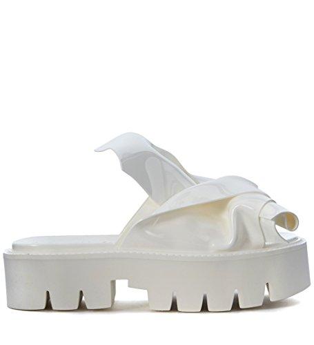 Zapatilla N°21 loves Kartell modelo Knot en PVC blanco Blanco