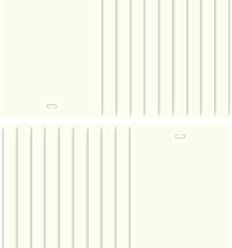 DALIX PVC Vertical Blind Replacement Slats Curved Off White 94.5 x 3.5 20-Pack