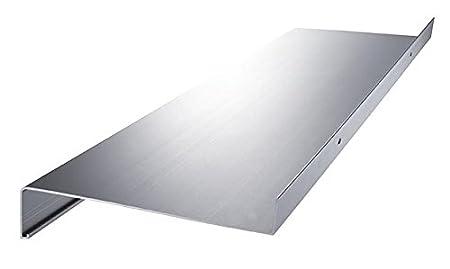 anthrazit dunkelbronze Aluminium Fensterbank Zuschnitt auf Ma/ß Fensterbrett Ausladung 240 mm wei/ß silber