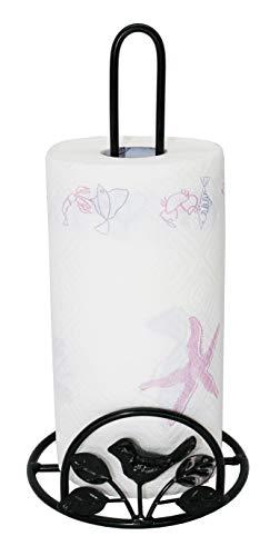Cast Iron Bird & Tree Scroll Paper Towel Holder, Black (Scroll Paper Towel Holder)