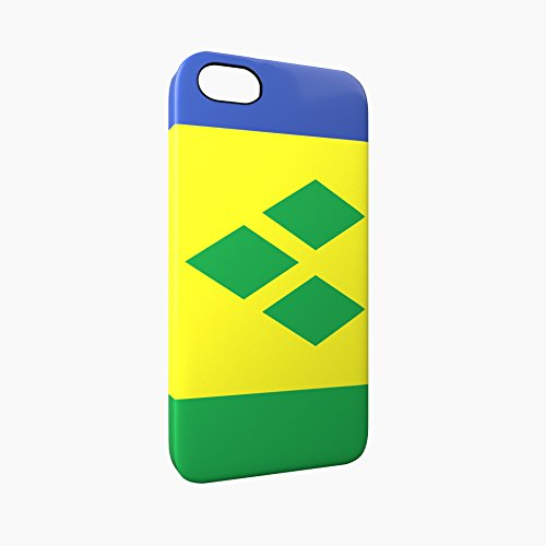 Flag of Saint Vincent and the Grenadines Glossy Hard Snap-On Protective iPhone 5 / 5S / SE Case Cover