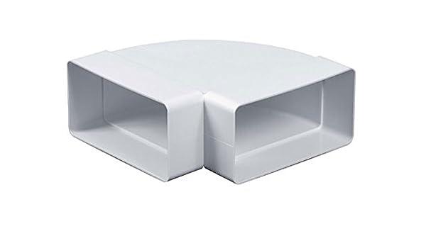 Rectangular Chanel codo 55 mm x 110 mm/90 Degree soporte de conducto de tubo Codo adaptador de conector KP55 – 24/90: Amazon.es: Bricolaje y herramientas
