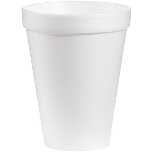 Dart 12J12 12 oz Foam Cup (Case of 1000) Dart Dart Foam Cup