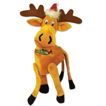 [Beistle 20705 1 Piece Plush Christmas Moose Hat, One Size Fits Most] (Discount Christmas Costumes)