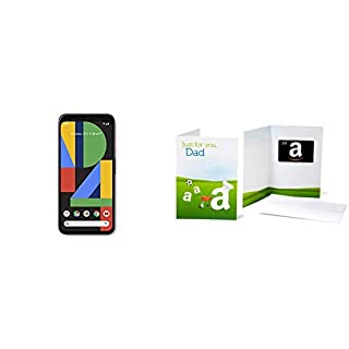 Google GA01187-US Pixel 4 - Just Black - 64GB - Unlocked with Amazon.com $200 Gift Card in a Greeting Card