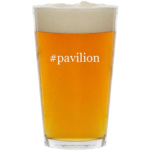 #pavilion - Glass Hashtag 16oz Beer Pint