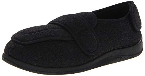 Foamtreads Men's Extra-Depth Wool Slippers,Charcoal,12 W