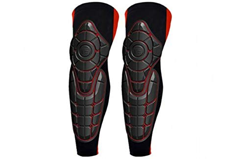 G-Form Pro-X Knee Shin Pad Combo (2 Piece), Red, X-Small