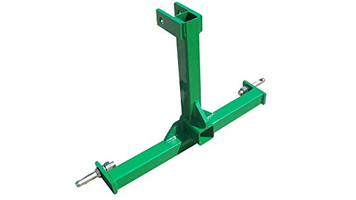 Heavy Duty 3 Point Category 1 Drawbar Receiver Hitch Tow Bar - Compatible with John Deere Green