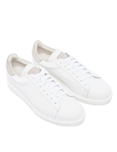 Fradi Scarpe Sneakers Bianco con Dettagli Corda SG750 Vera Pelle Made in Italy 181SG750181PA8310