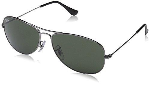 Ray-Ban Cockpit Sunglasses Gunmetal/Crystal Green, One Size