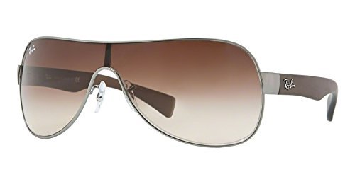 New Ray Ban RB3471 029/13 Matte Gunmetal/Brown Gradient 32mm - Shield Ban Ray