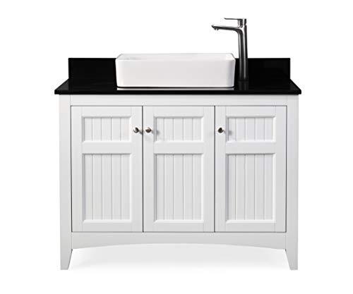 "42"" Thomasville Farmhouse White Vessel Sink Bathroom Vanity ZK-77888GT"