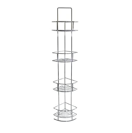 Chrome Corner Bathroom Storage Caddy Shelving: Amazon.co.uk: Kitchen ...