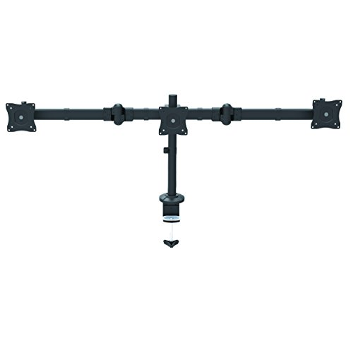 Startech Triple Monitor Mount - Articulating - Clamp / Gr...