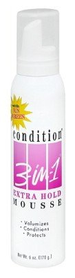 Condition 3 In 1 Sunscreen - Condition 3-In-1 Mousse Extra Hold with Sunscreen, 6 Ounce