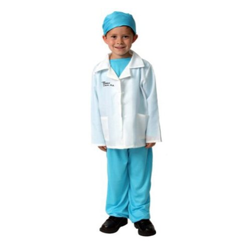 Kids Blue Medical Doctor Play Career Dressup Halloween Costume 6/8 - Career Costumes For Kids