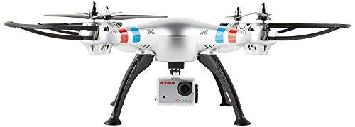 LENRUE Syma X8g 2.4G 4Ch 6 Axis Drone con 8Mp 1080P Acción Cámara HD, RC Quadcopter RTF Helicóptero