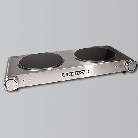 Arebos® Eléctrico de acero inoxidable Placa de cocina (Ceran ...