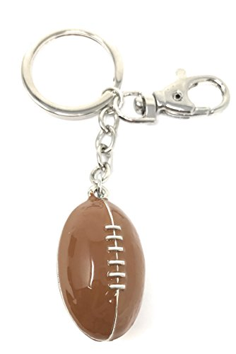 Value Arts Enameled Football Key Chain, 4.5 Inches Long