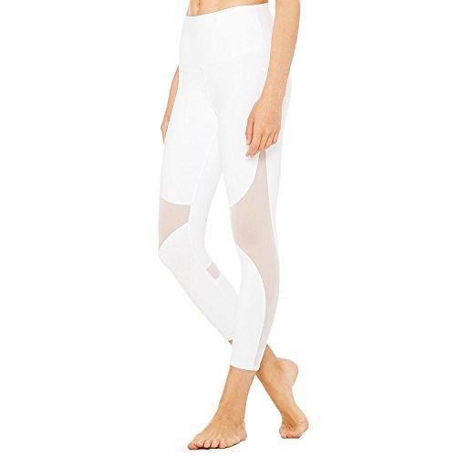 ff75fda2804f81 YOFIT Women's Mesh Capri Leggings Workout Yoga Running Crop Pants Sexy Mesh  Patchwork Fitness Tight Pants