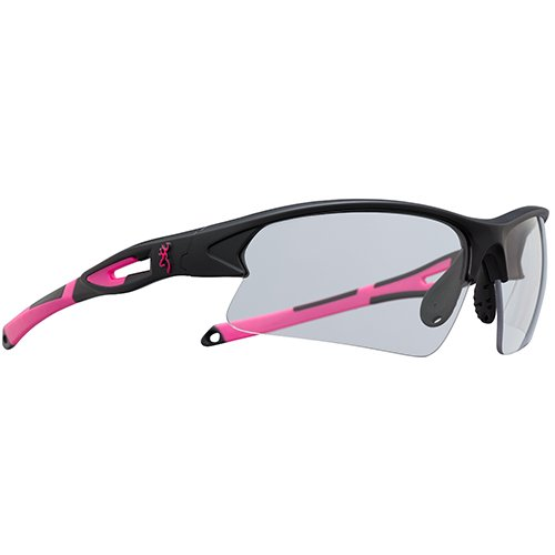 Browning 127151 On Pt. Shooting Glasses, Black/Pink, Clear