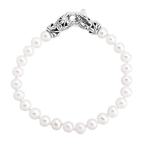 Silpada 'Mutiara' 6-6.5 mm Freshwater Cultured Pearl Bead Bracelet in Sterling ()