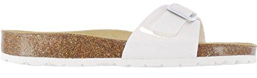 Sandales Chaussures Malaga Cuir Blanc Femmes Sanosan FwqdnBtBWx